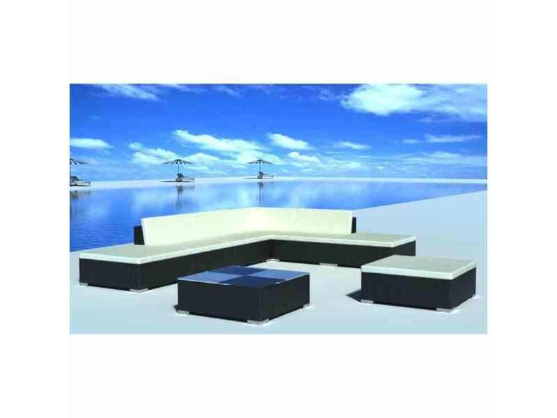 Sublime meubles de jardin collection honiara jeu de meuble de jardin 20 pcs noir résine tressée