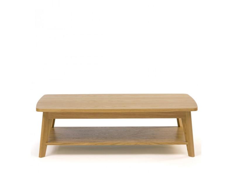 Kensal - table basse 2 plateaux bois - couleur - bois massif 104221001012