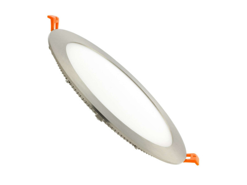 Spot led encastrable extra plat 18w satin nickel - blanc naturel 4200k EC-2537