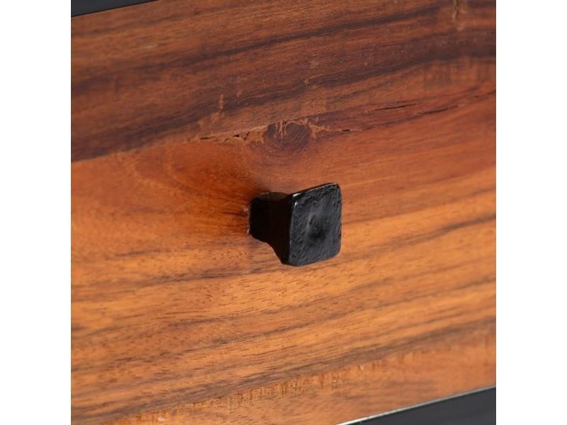 Icaverne - meubles tv edition meuble tv 120 x 30 x 40 cm bois de récupération massif et acier