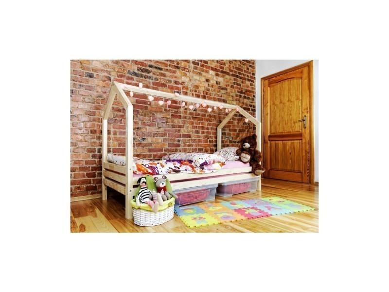 lit cabane r 90x190 sommier vente de monlitcabane. Black Bedroom Furniture Sets. Home Design Ideas