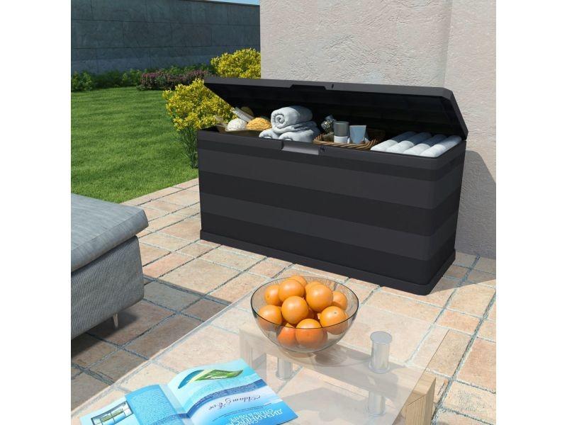 Icaverne - coffres de jardin gamme boîte de rangement de jardin 280 l noir