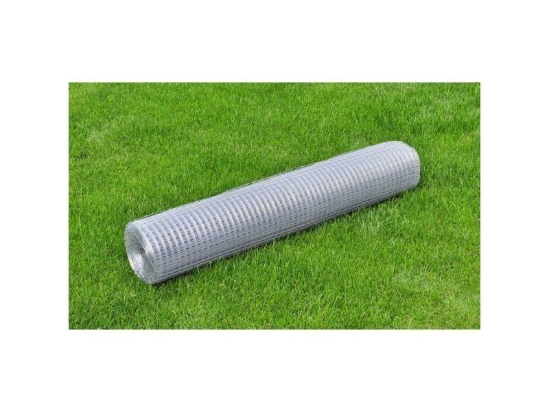 Vidaxl grillage pour volière acier galvanisé 25 x 1 m argenté 140431
