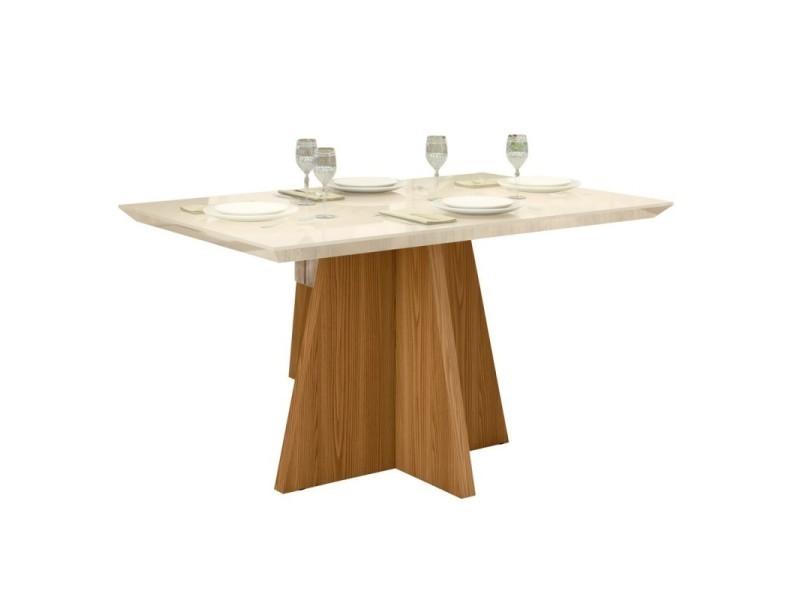 Table à manger 4 personnes chêne et blanc