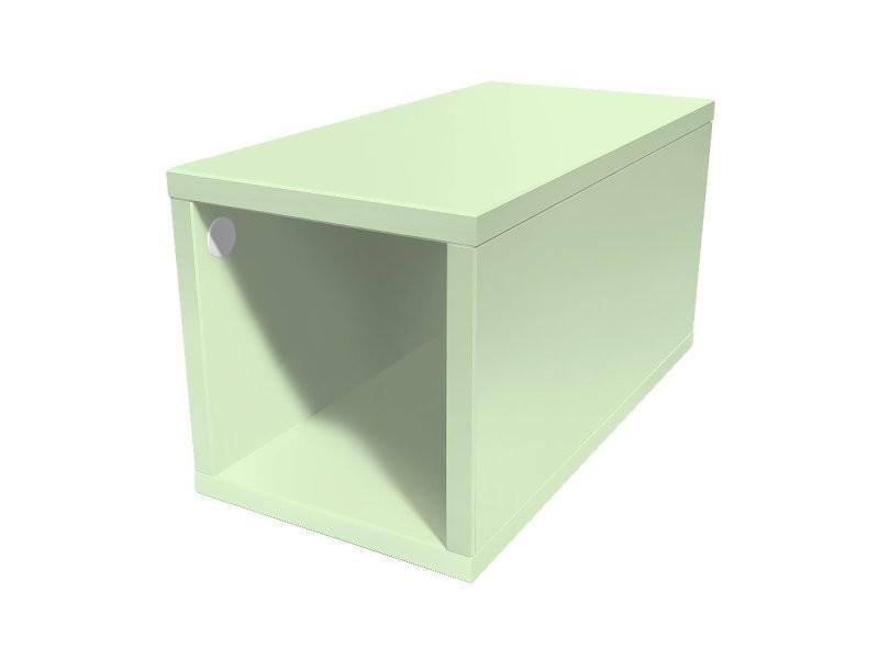Cube de rangement bois 25x50 cm 25x50 vert pastel CUBE25-VP