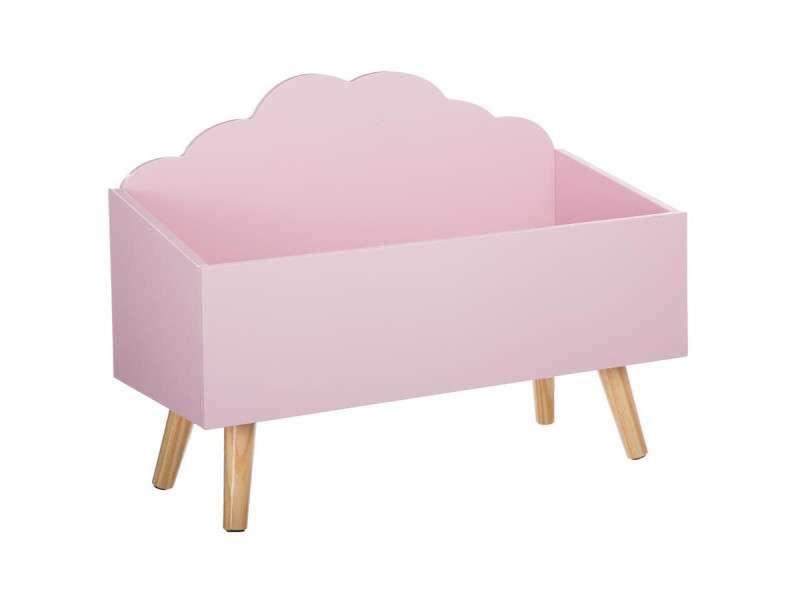 coffre jouets nuage rose en bois vente de atmosphera. Black Bedroom Furniture Sets. Home Design Ideas