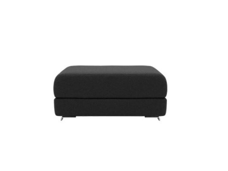 Pouf convertible lounge en tissu laine gris anthracite softline 20100874820