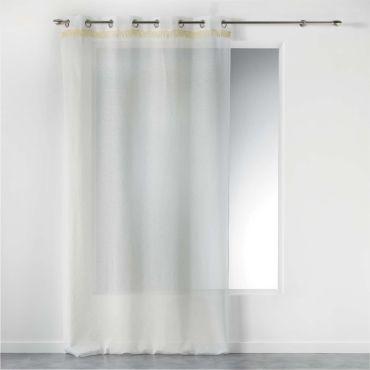 CDaffaires Voilage a Oeillets 140 x 240 cm Effet froiss/é Polamo Blanc