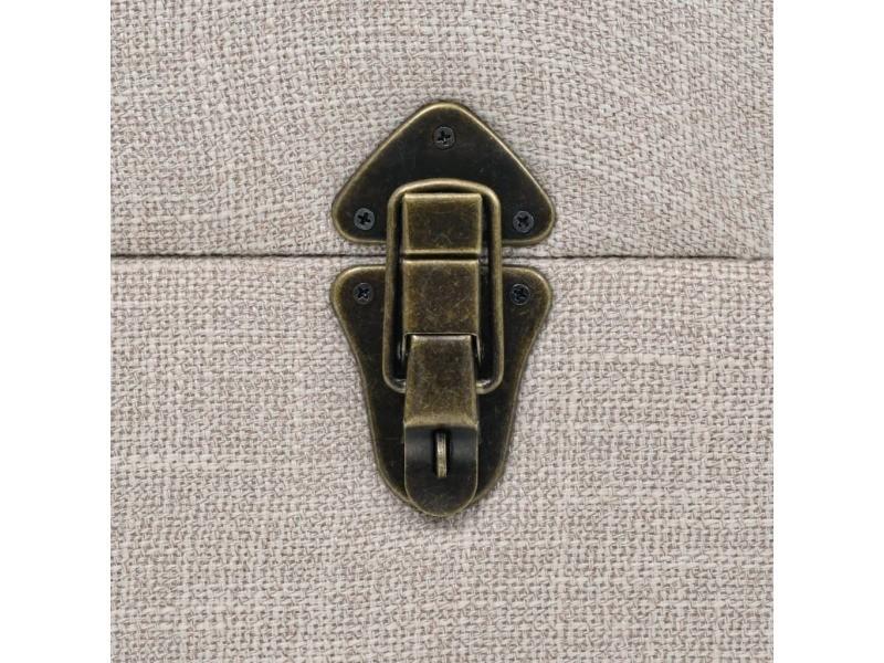 Icaverne - bancs coffres famille banc de rangement bois massif et acier 111 x 34 x 37 cm
