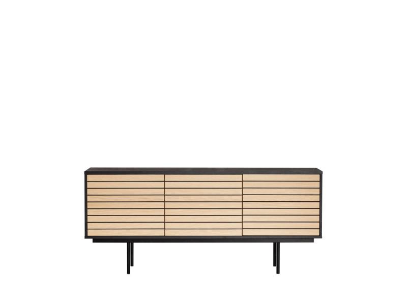 Stripe - buffet design en bois et métal - couleur - noir/chêne 278115101162