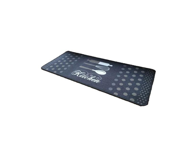 Tapis de cuisine gris motif kitchen - Vente de CASÂME - Conforama