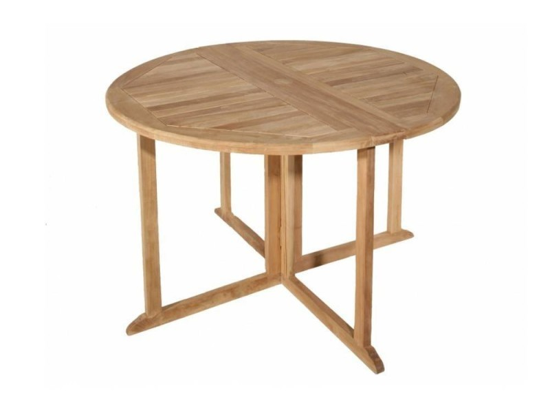 Table ronde pliante modulable butterfly en teck - Table basse ronde conforama ...