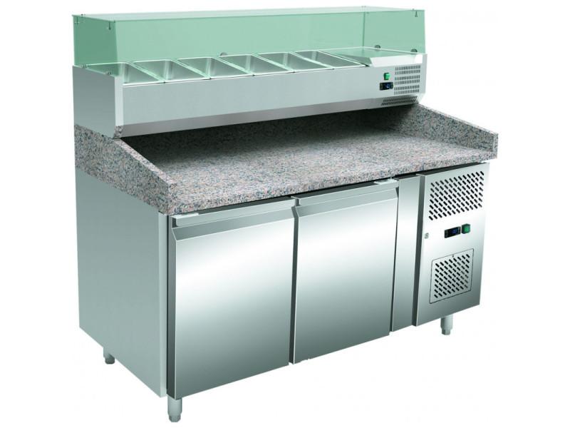 Table réfrigérée à pizza 2 portes - stalgast - r600a