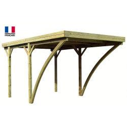 Jardipolys - carport en bois 1 voiture 16,3 m2 - milano uno