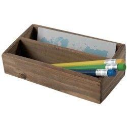 Casier 2 compartiments en bois « vintage »