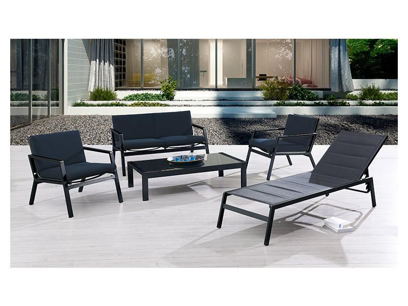 bain de soleil noir vente de transat hamac et balancelle conforama. Black Bedroom Furniture Sets. Home Design Ideas