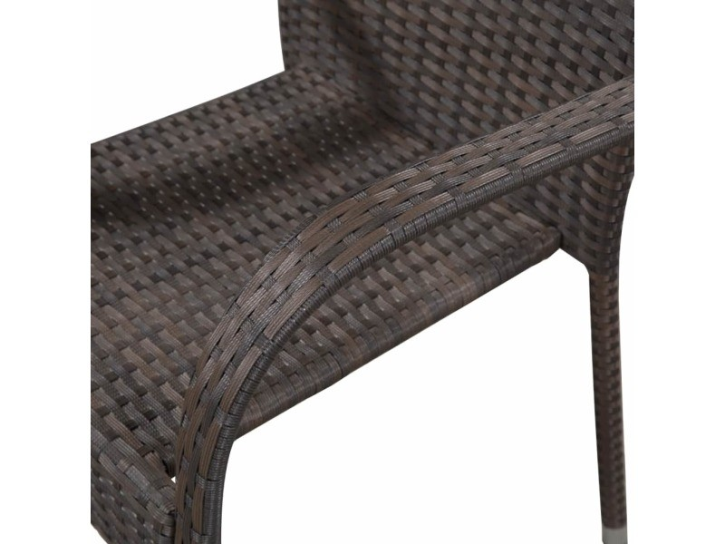 Vidaxl chaises empilables d'extérieur 2 pcs résine tressée