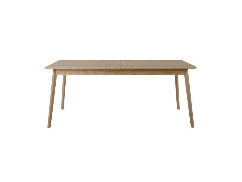 Table à manger extensible en bois l150/200xh75xp80cm ridley