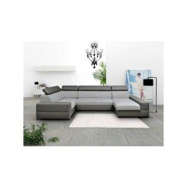 canape d39angle panoramique 6 places capri xxl design gris With tapis chambre bébé avec canapé d angle convertible alcantara