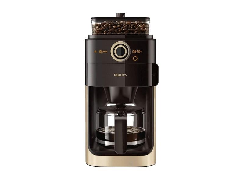 Philips grind & brew cafetière métal perle 1000w dh7768/90