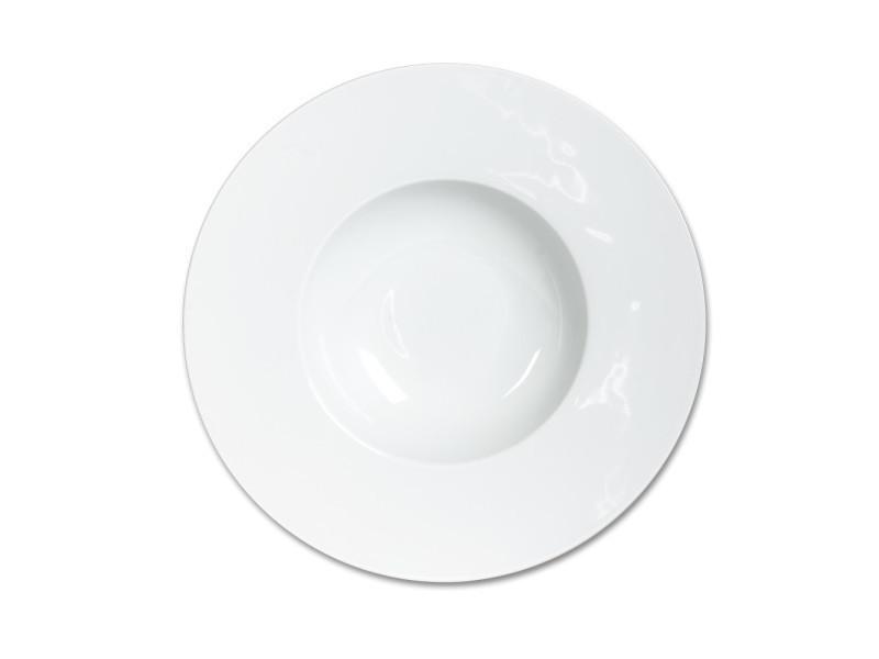 Assiette creuse 23 cm zen (lot de 6)