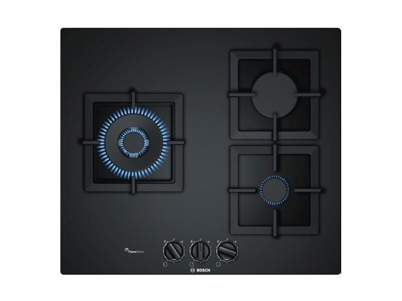 Plaques de cuisson magnifique plaque au gaz bosch ppc6a6b20 60 cm 60 cm noir (3 feux à gaz)