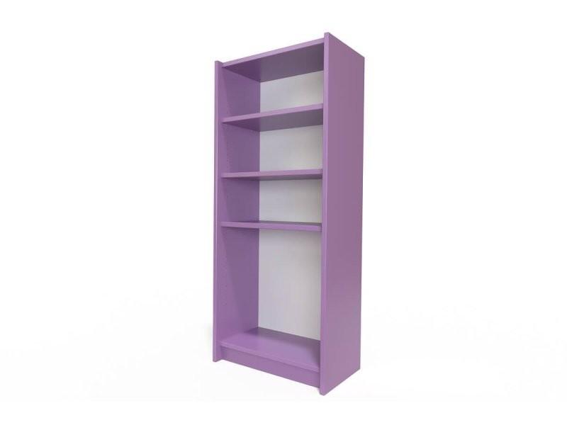 Étagère bibliothèque bois lilas ETABIB-Li