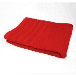 Serviette de toilette 50 x 90 cm rouge