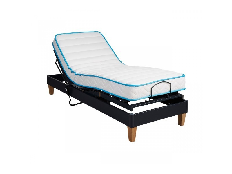 Ensemble relaxation someo latex 50 sommier tpr 30 anthracite 2x80x200