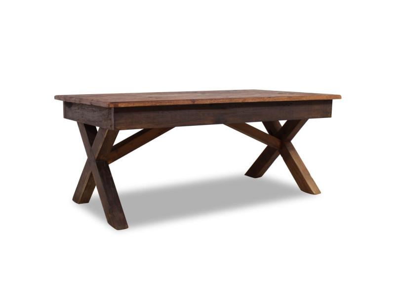 Vidaxl table basse bois de récupération massif 110 x 60 x 45 cm 244492