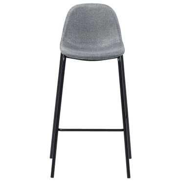 Vidaxl chaises de bar 6 pcs gris clair tissu 279660 Vente