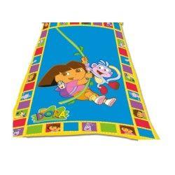 Dora plaid couverture polaire dora et babouche
