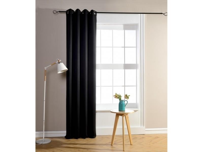 Rideaux Occultant Noir 140 X 260 Cm