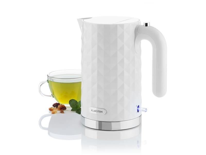 Klarstein granada bianca bouilloire électrique - réservoir 1,7l - 2200 watt - blanc