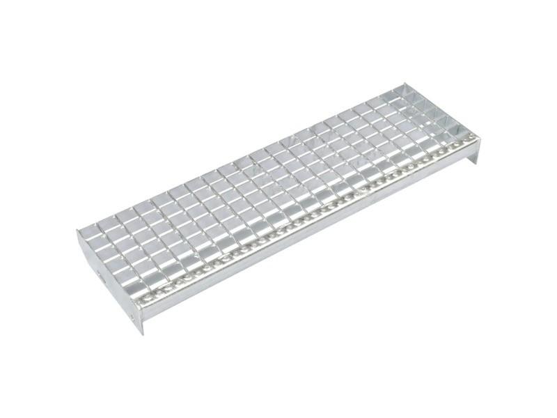 Stylé outils serie rabat marches d'escalier 4 pcs acier galvanisé forgé 600x240 mm