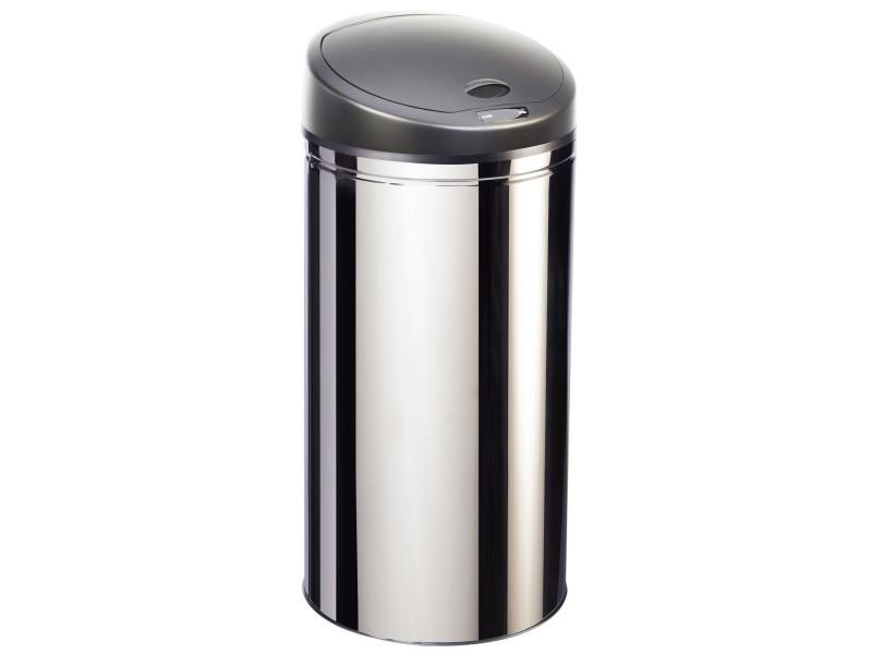 poubelle ouverture automatique en inox 50l upsense inox 50l upsense inox 50l vente de. Black Bedroom Furniture Sets. Home Design Ideas