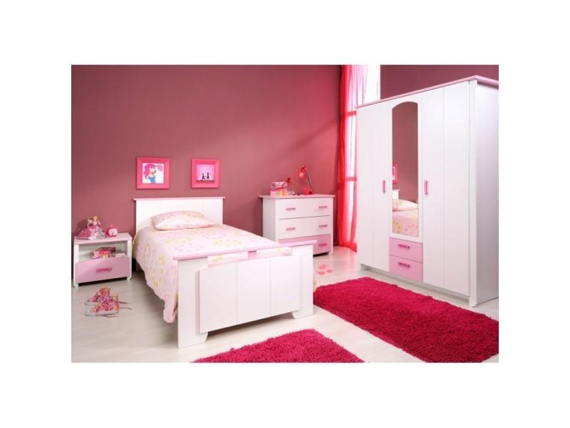 Chambre Enfant Complète (90*190)   Beauty   L 103 X L 197 X H 79   Neuf