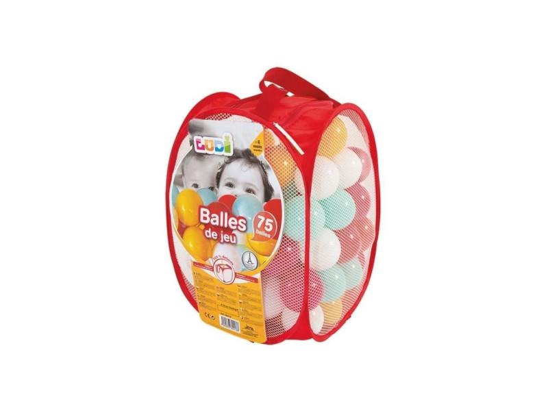 75 balles de jeu avec sac de transport rouge JBM30013