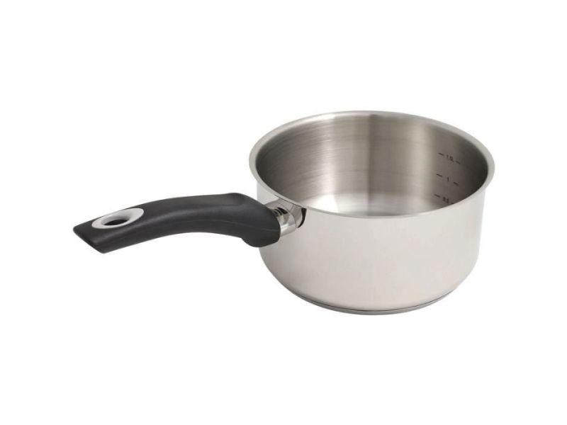 Casserole casserole induction en inox sans teflon - 18 cm
