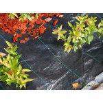 Toile de paillage paysage noire en polypropylène tissé 100gr/m² 1x50m
