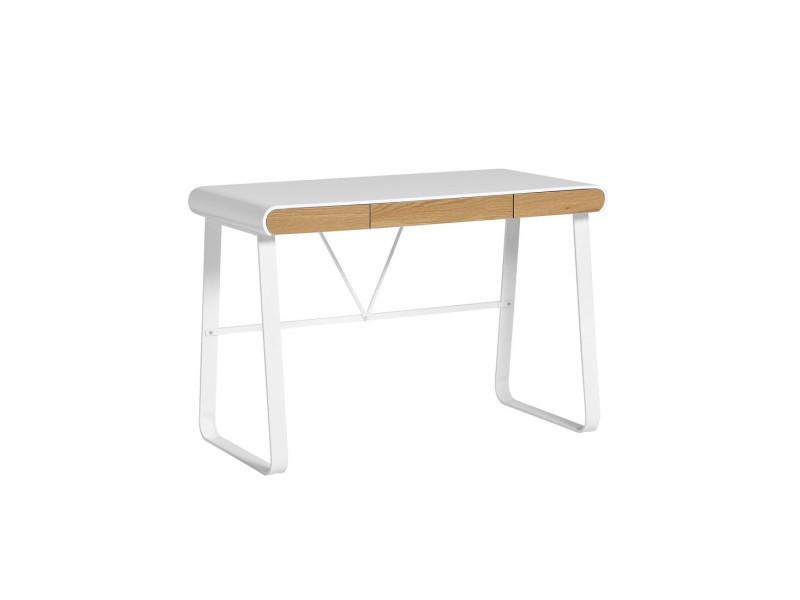 Bureau blanc et tiroirs bois lito l l h neuf
