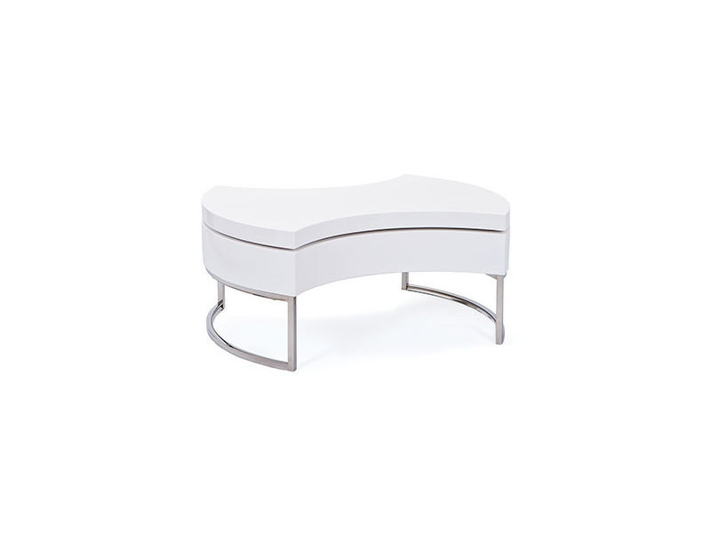 Table basse plateau pivotant blanc - turn