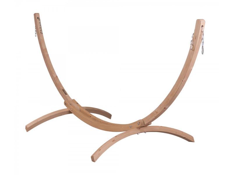 Support pour hamacs doubles carola en bois, dim : 381 x 159 x 135 cm -pegane-