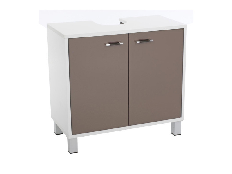 meuble dessous de lavabo taupe vente de ligne d 39 o conforama. Black Bedroom Furniture Sets. Home Design Ideas