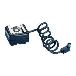 Kaiser griffe porte flash avec contact central et câble - h: 16 mm - l. Câ