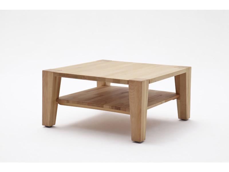 Table basse en bois de hêtre huilé avec roulettes - l80 x h40 x p80 cm -pegane-