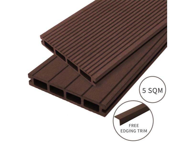 Jardí - lame de terrasse en composite de 5m², couleur «conker brown» (marron)