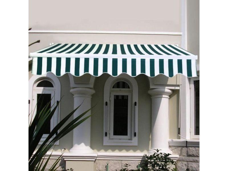 Giantex store banne de balcon rétractable 2,5 x 2m avec tissu résistant aux uv et à l'eau,cadre en aluminium pour terrasse