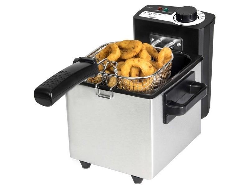 Friteuse à témoin lumineux 1,5 l 1000w acier inoxydable