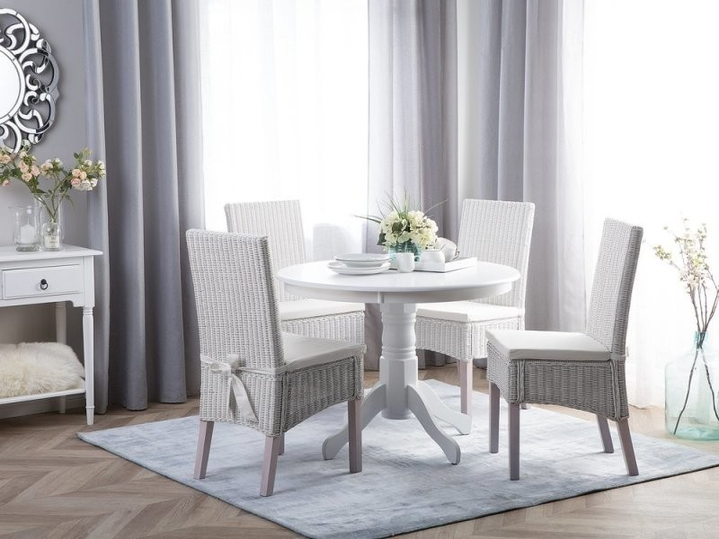 Table ronde 100 cm blanche akron 113056